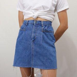 Vintage high waisted jean skirt
